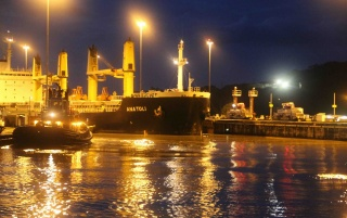 Panama Canal Night wallpapers and stock photos
