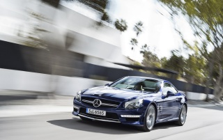2013 Mercedes Benz SL 65 AMG Road wallpapers and stock photos
