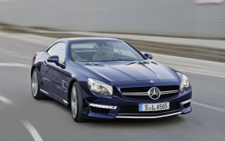 2013 Mercedes Benz SL 65 AMG Front Speed wallpapers and stock photos
