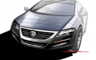 Passat drawing #2 wallpapers and stock photos