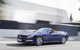 2013 Mercedes-Benz SL 65 AMG Moving Top Down wallpapers and stock photos