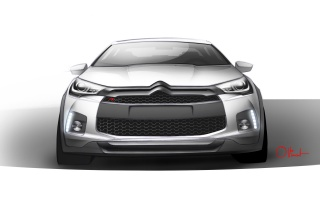 2012 Citroen DS4 Racing Concept Design Sketch Front wallpapers and stock photos