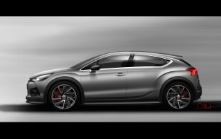 2012 Citroen DS4 Racing Concept Design Sketch Side wallpapers and stock photos