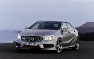 2012 Mercedes-Benz Grey A Class Static wallpapers and stock photos