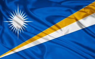 Marshall Islands flag wallpapers and stock photos