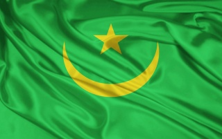 Mauritania flag wallpapers and stock photos