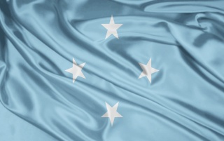 Micronesia bandera wallpapers and stock photos