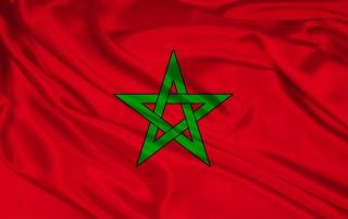 Morocco flag wallpapers and stock photos