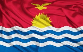 Bandera de Kiribati wallpapers and stock photos