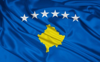 Kosovo-Flagge wallpapers and stock photos