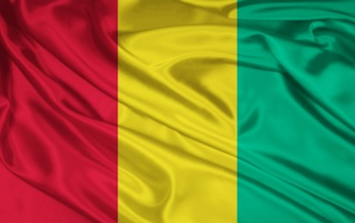 Guinea Flagge wallpapers and stock photos