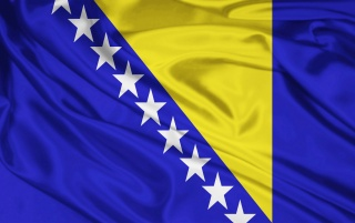 Bosnien und Herzegowina Flagge wallpapers and stock photos