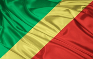 Congo Flag wallpapers and stock photos