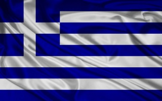 Grecia Bandera wallpapers and stock photos