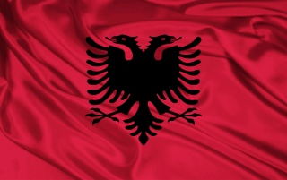 Albanien-Flagge wallpapers and stock photos
