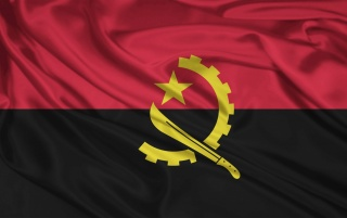 Angola Flag wallpapers and stock photos