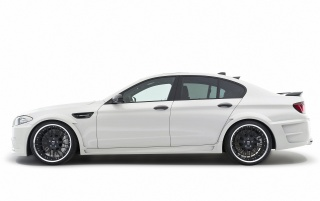 2012 White Hamann BMW M5 Studio Front Angle wallpapers and stock photos