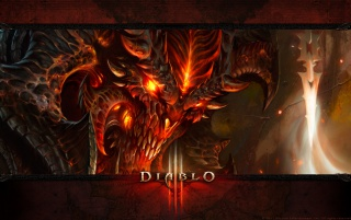 Diablo 3 del cartel wallpapers and stock photos