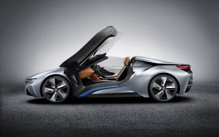 2012 BMW i8 Concept Spyder Studio Side wallpapers and stock photos