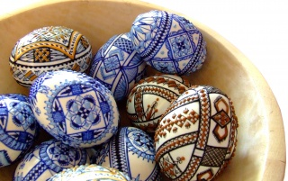 Traditional decorated eggs wallpapers and stock photos