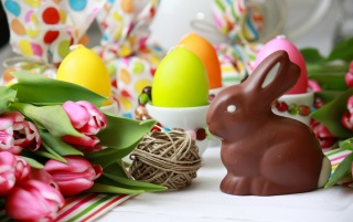 Chocolate bunny wallpapers and stock photos