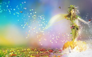 Spring goddess wallpapers and stock photos