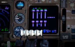 747 Power levers wallpapers and stock photos