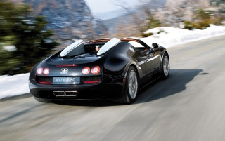2012 Bugatti Veyron 16-4 Grand Sport Vitesse Rear Moving wallpapers and stock photos
