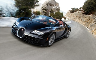 2012 Bugatti Veyron 16-4 Grand Sport Vitesse Angle Speed wallpapers and stock photos