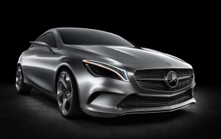 2012 Mercedes-Benz Concept Style Coupe Studio Front Angle wallpapers and stock photos