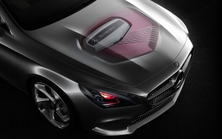 2012 Mercedes-Benz Concept Style Coupe Engine Ghosted wallpapers and stock photos