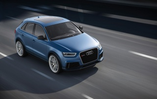 Random: 2012 Audi RS Q3 Concept Top Angle Speed