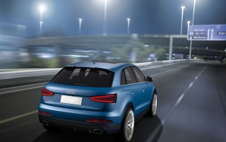 2012 Audi RS Q3 Concept Rear Angle Speed wallpapers and stock photos