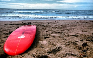 Red Surf Board wallpapers and stock photos