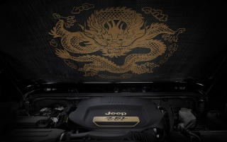 2012 Jeep Wrangler Dragon Design Concept Carbon Fiber Insulator wallpapers and stock photos