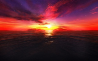 3D Sunset wallpapers and stock photos
