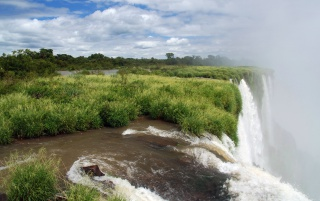 Waterfall - Iguacu wallpapers and stock photos