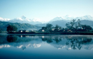 Pokhara Phewa Lake wallpapers and stock photos