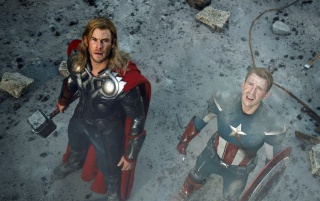 Thor and Captain America wallpapers and stock photos
