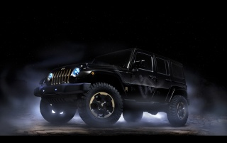 Jeep Wrangler Dragon Design Concept Static Side Angle wallpapers and stock photos