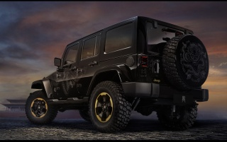 Jeep Wrangler Dragon Design Concept Static Rear Angle wallpapers and stock photos