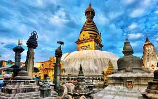 Kathmandu Ruins wallpapers and stock photos