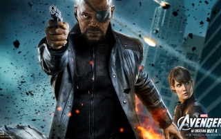 The Avengers: Nick Fury Poster wallpapers and stock photos
