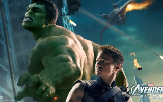 Hawkeye and The Hulk wallpapers and stock photos