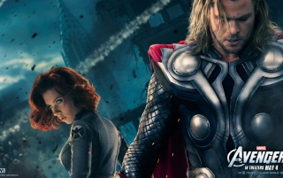 Thor and Black Widow wallpapers and stock photos