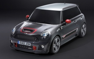 2012 Mini John Cooper Works GP Front and Side Studio wallpapers and stock photos