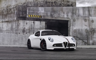2012 Wheelsandmore Alfa Romeo 8C Static Front Angle wallpapers and stock photos