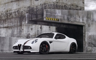 2012 Wheelsandmore Alfa Romeo 8C Static Side Angle wallpapers and stock photos