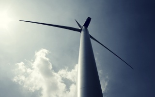 Wind Turbine From Bellow wallpapers and stock photos