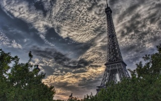 Eiffel Tower HDR wallpapers and stock photos